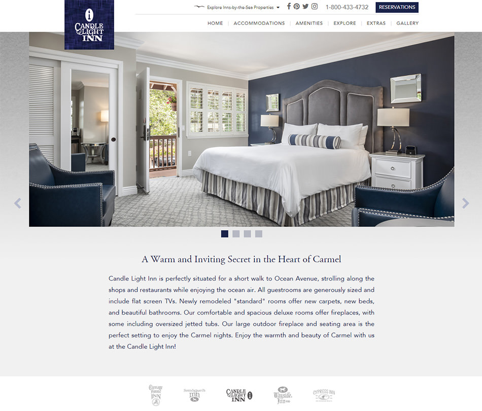 featured client candle light inn carmel by the sea. Black Bedroom Furniture Sets. Home Design Ideas